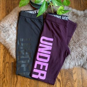 Under Armour Full Length Leggings 2pc Bundle Small